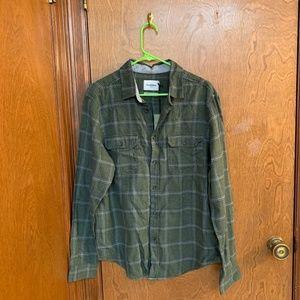 NEW - Men's Green Flannel Size L